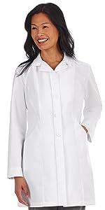 White Swan Meta Pro 875 Women's Lab Coat 33quot; Medical Healthcare Uniforms Fashion