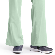 Flare leg with side vents shown on Barco Grey's Anatomy 4232 Women's Drawstring Scrub Pant