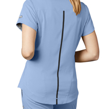 T-back seaming close-up on Barco Grey's Anatomy 7187 Women's V-Neck Scrub Top