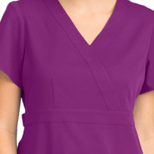 Close-up of mock wrap design on Barco Grey's Anatomy 4153 Women's Mock Wrap Scrub Top