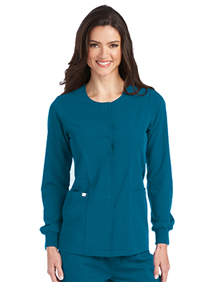 Barco Grey's Anatomy Signature 2407 Women's Front Snap Scrub Jacket