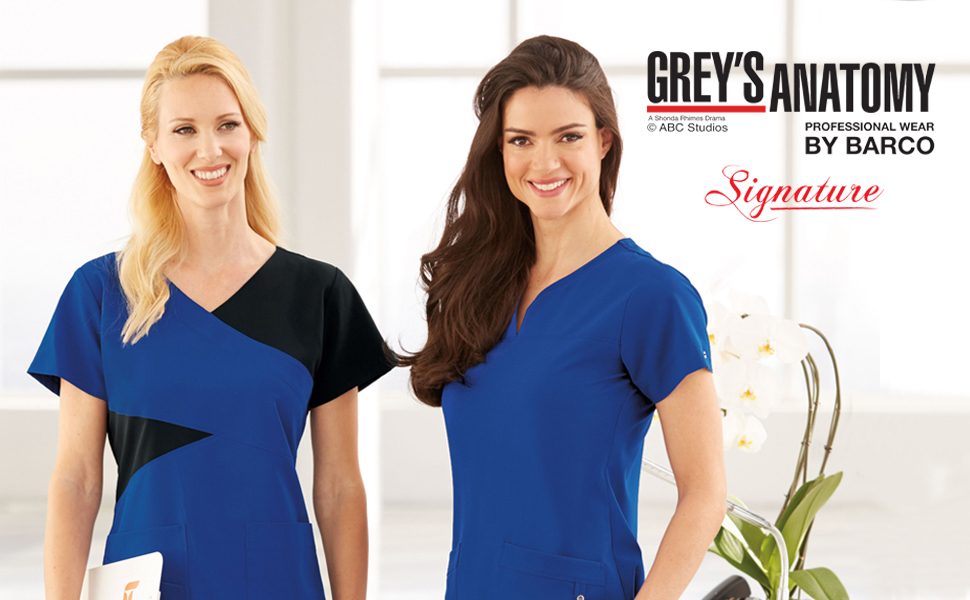 1c342ebd022 Barco Grey's Anatomy Signature Scrubs Medical Healthcare Uniforms Fashion  Polyester Rayon Spandex