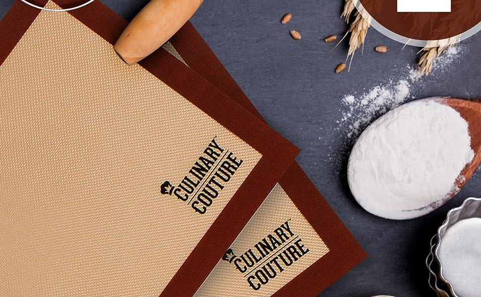 Amazon Com Culinary Couture Silicone Baking Mat Set 2 Non Stick