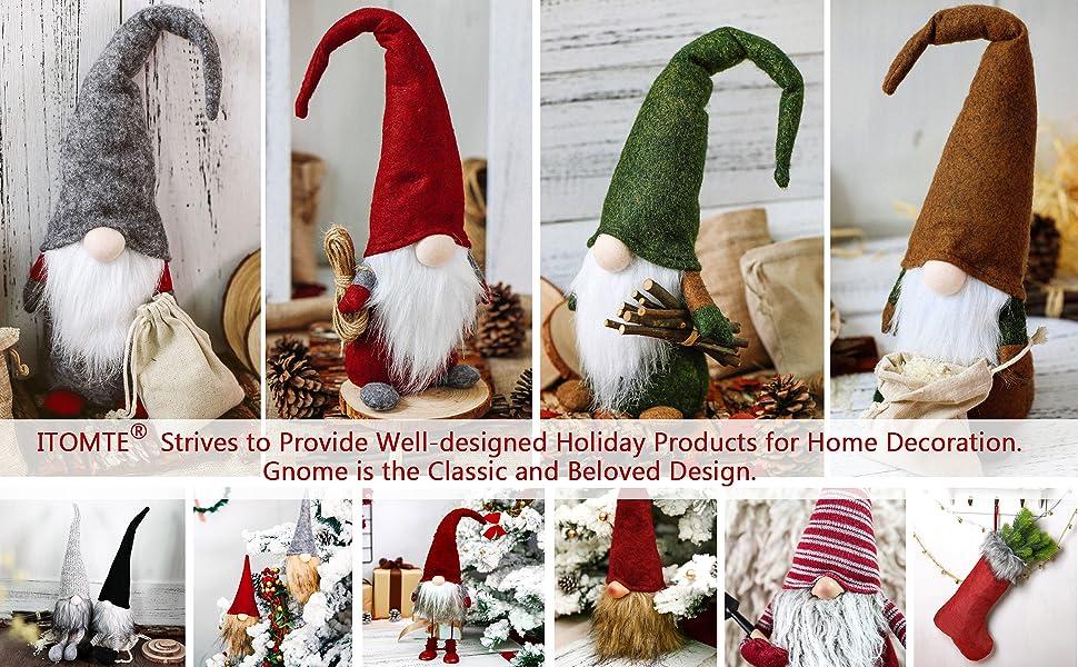 Christmas Gnomes Pattern.Itomte Handmade Swedish Gnome Scandinavian Tomte Yule Santa Nisse Nordic Figurine Plush Elf Toy Home Decor Winter Table Ornament Christmas
