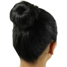 Finished hair bun