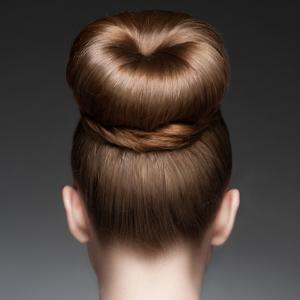 Blonde donut hair bun