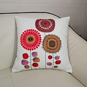 Cartoon Flowers Pattern Cushion Covers Decorative Throw Pillows