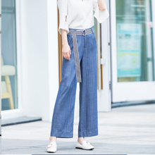 Omoone Womens High Waist Wide Leg Tencel Denim Pants Soft Loose Palazzo Jeans