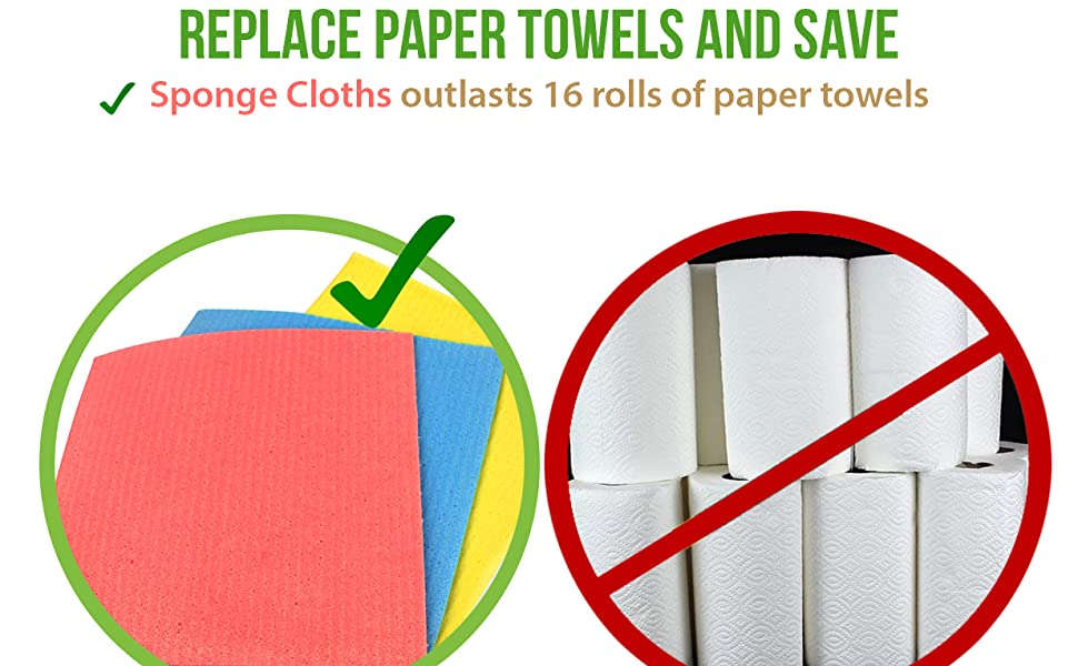 sponge cloth paper towel replacement bulk and save