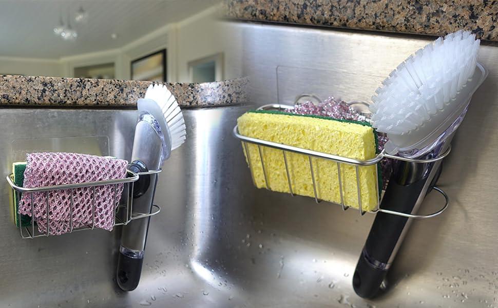 in sink sponge caddy holder organizer