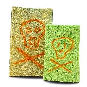 no smell no odor dish cloth scrubber scourer sponge