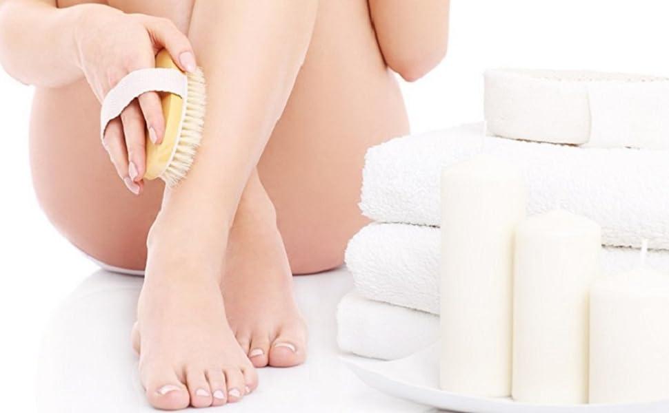 Loofah Back Scrubber amp; Body Brush for Dry Skin Brushing