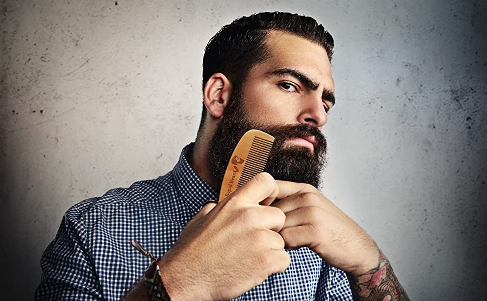 Amazon.com : Beard Brush and Beard Comb kit for Men Grooming ...