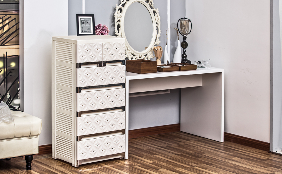 plastic drawers storage cabinet wardrobe closet Armoire-a large chest of drawers dresser organizer