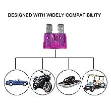 Blade Car Fuses Assortment Kit 220PCS –Standard & Mini