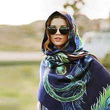 silk shawl evening shawl peacock scarf designer scarf beach wrap