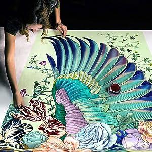 art process shovava wings scarf
