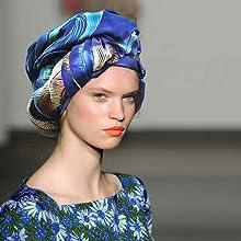 turban head wrap  silk scarf boho headwear shovava