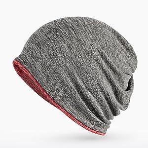 9eb10729c494d ... Women Baggy Skull Cap Slouchy Hat Winter Cap. Reversible beanie for men
