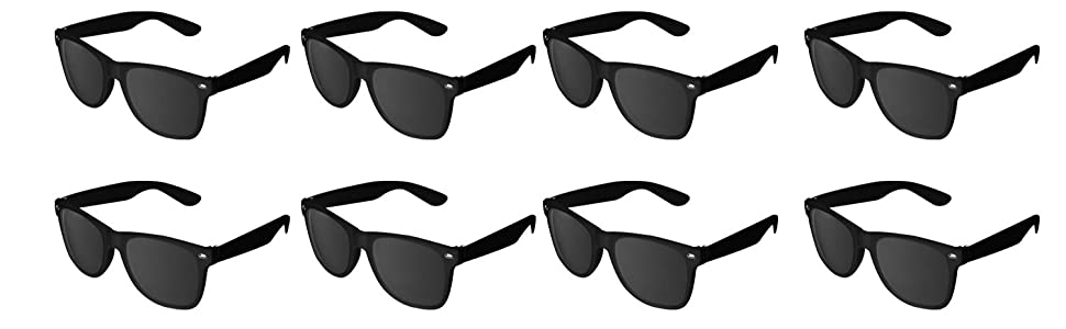 Black Sunglasses Wholesale Party Pack, Retro Wayfarer Risky Business-Blues Brothers