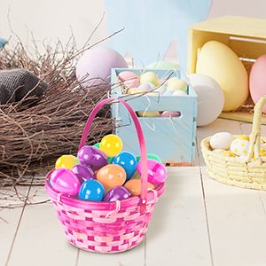 Easter Eggs for Kids, Bright Colorful Easter Eggs Filled with Toys Plastic Surprise Easter Eggs