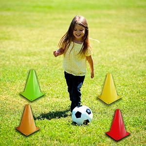 Indoor/Outdoor Agility Cones Sports Soccer Flexible Cone Sets