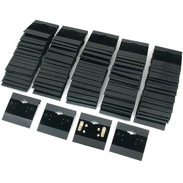 """Earring Display Cards 3.25/""""X2.5 Inches 30Pc//Pkg Black Velvet"""