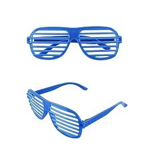 337662aa10 Amazon.com  12 Pairs of Plastic Shutter Glasses Shades Sunglasses ...