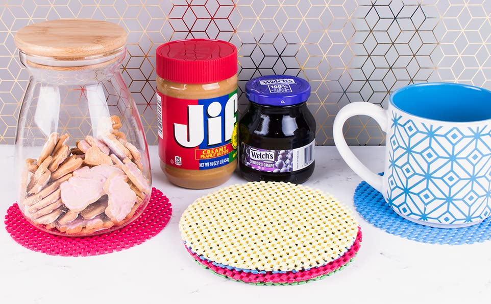 jar openers, grippers for opening jars, Kitchen Coasters Round, assorted color jar grippers