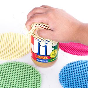 can openers, reusable jar grips, non-slip coasters, kitchen gadgets, novelty kitchen utensils