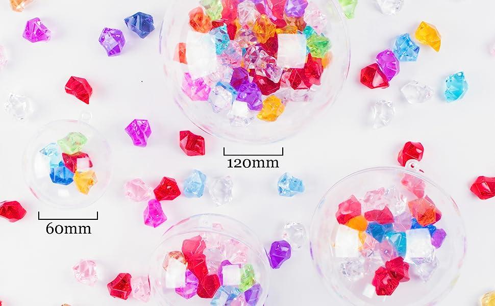 Amazon Com Clear Plastic Acrylic Bath Bomb Mold Shells Molding