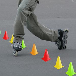 Orange Sports Training Cones, Agility Marker Cones, Vinyl Cones