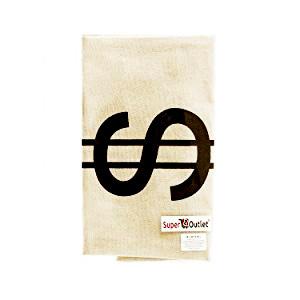 money bag, dollar sign