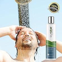 curaloe pure aloe vera natural shower gel shampoo soap bath wash scrub organic pure men women best
