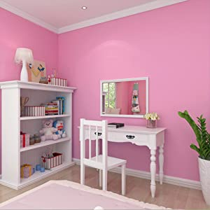 Coavas Pink Peel And Stick Wallpaper Dormitory For Girls 24x197