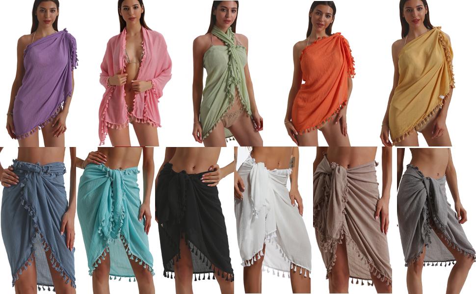Swim Beach Sarong Wrap Short Skirt