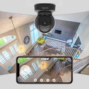 pan  Wansview Wireless Security Camera, IP Camera 1080P HD, WiFi Home Indoor Camera for Baby/Pet/Nanny, Motion Detection, 2 Way Audio Night Vision, Works with Alexa, with TF Card Slot and Cloud 7eee57af 4861 43f9 af2e 3b7e73f70e72
