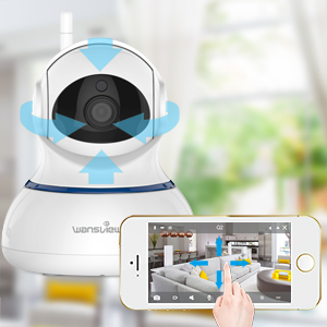 Wansview Wireless 1080P Security Camera, WiFi Home Surveillance IP Camera  for Baby/Elder/ Pet/Nanny Monitor, Pan/Tilt, Two-Way Audio & Night Vision