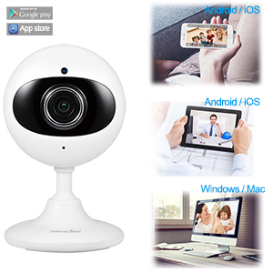 Wansview Wireless Home Camera, 1080P WiFi Security Indoor IP Camera for Baby/Elder/Pet/Nanny Monitor with Night Vision and Two-way Audio-K3 (White)