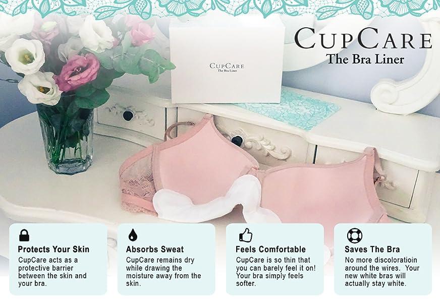 8fabbf63e3 CupCare  A Premium Disposable Bra Liner and Bra Sweat Pads for Women ...