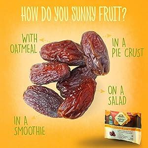 organic sunny fruit dates