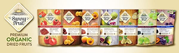sunny fruit organic dried fruit