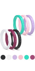 6 PACK SILICONE RINGS