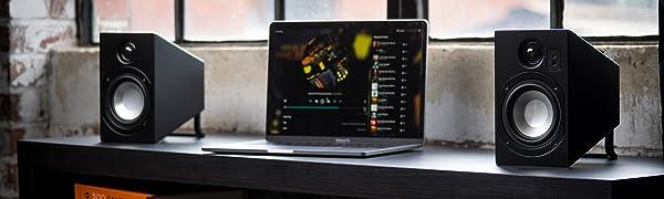 Vanatoo, transparent zero, computer speakers, powered speakers, desktop speakers, bluetooth, laptop