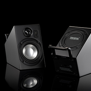 wireless remote, ir receiver, passive woofer, deep bass