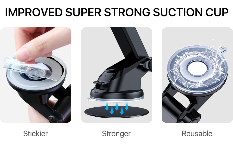 car phone mount holder suction cup dashboard windshield air vent