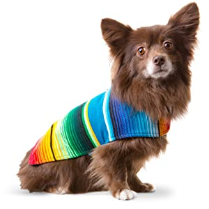Handmade Dog Poncho from Mexican Serape Blanket - Dog Clothes - Coat - Costume - Sweater - Vest 58