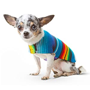 Handmade Dog Poncho from Mexican Serape Blanket - Dog Clothes - Coat - Costume - Sweater - Vest 62