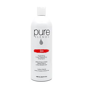 red burgundy color depositing shampoo conditioner pure blends brown brunette hair keratin collagen