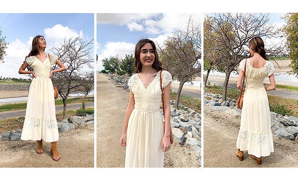 360997b3365 Anna-Kaci Renaissance Peasant Maiden Boho Inspired Cap Sleeve Lace ...